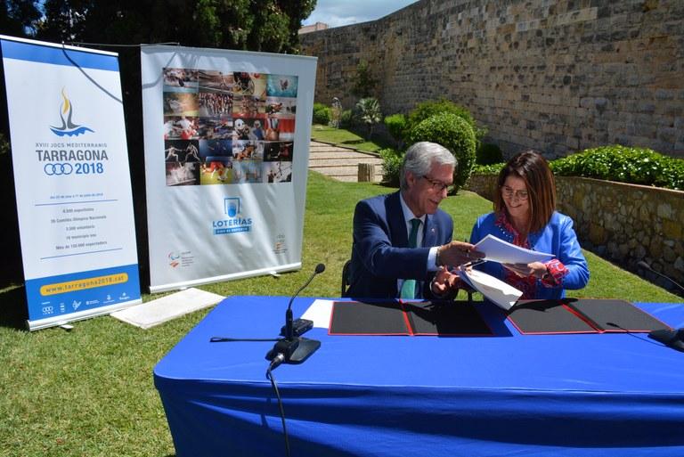 """""""Loterias y Apuestas del Estado"""", nou soci oficial dels Jocs Mediterranis"""