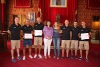Recepció al Team Adeslas i al benjamí masculí del Tarragona Handbol Club pels èxits recents