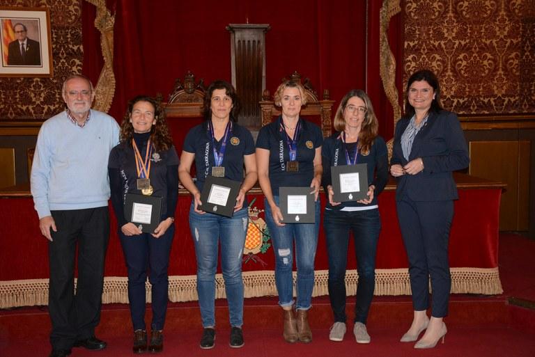 Avui, dilluns, recepció de la Secció de Rem del Club Nàutic de Tarragona