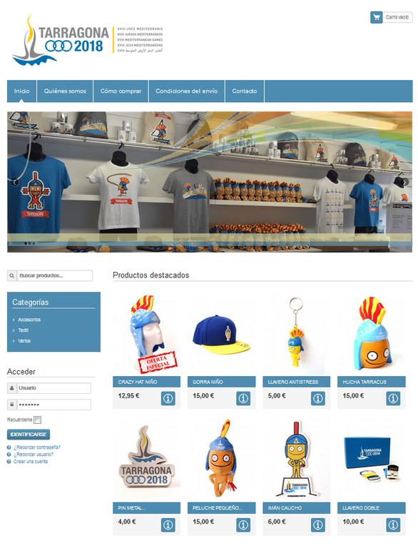 La botiga en línia del marxandatge oficial de Tarragona 2018 ja està operativa