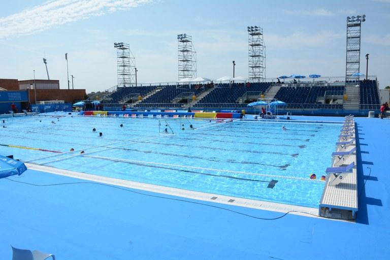La piscina de 50 metres de l'Anella Mediterrània s'obrirà al públic el proper dilluns