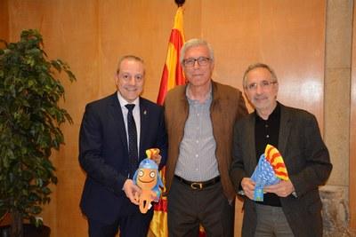 L'alcalde Ballesteros es reuneix amb l'alcalde de Granollers i el president de la Federació Espanyola d'handbol