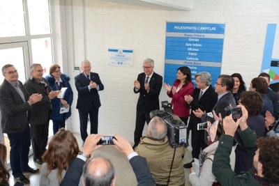 L'Alcalde inaugura la remodelació del Complex Esportiu de Campclar