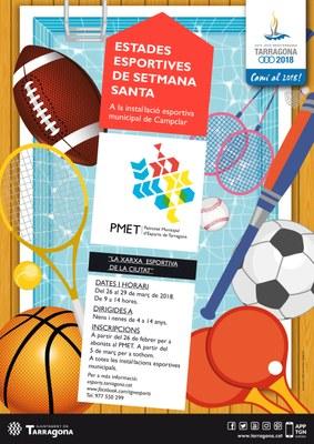 Les Estades Esportives de Setmana Santa del PMET incorporen el servei d'acollida gratuït