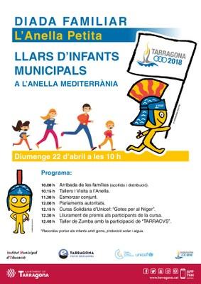 Les llars d'infants municipals celebren aquest diumenge una jornada lúdica familiar a l'Anella Mediterrània