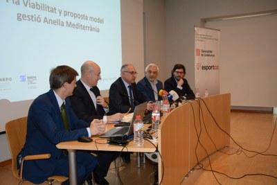Presentat l'estudi de la Secretaria General de l'Esport sobre el pla de viabilitat i el model de gestió de l'Anella Mediterrània de Tarragona 2018