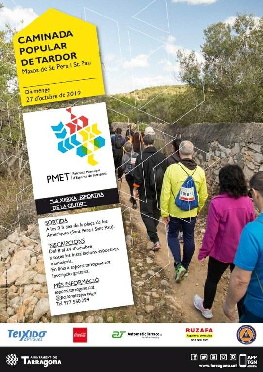 La Caminada Popular de Tardor recorrerà el 27 d'octubre l'entorn dels masos de Sant Pere i Sant Pau