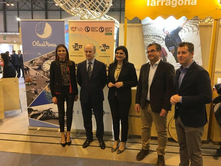 Tarragona ratifica a FITUR el compromís amb el millor vòlei platja