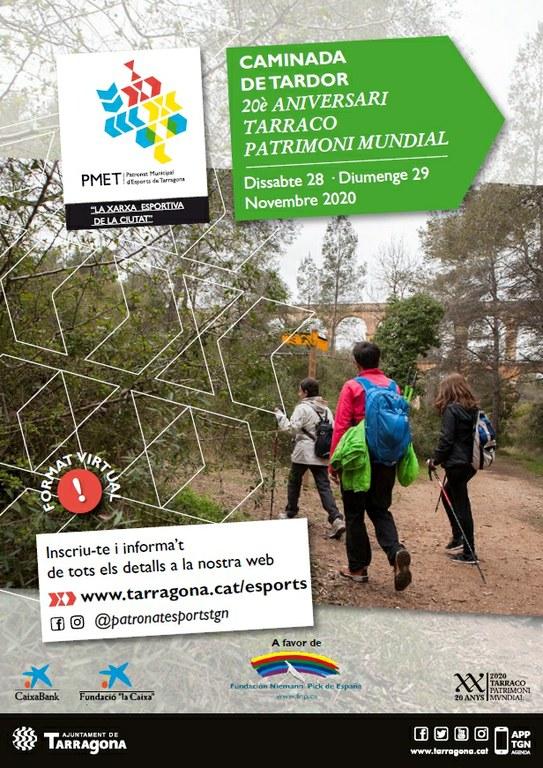 El PMET organitza la caminada de tardor dins dels actes del 20è aniversari Tàrraco Patrimoni Mundial