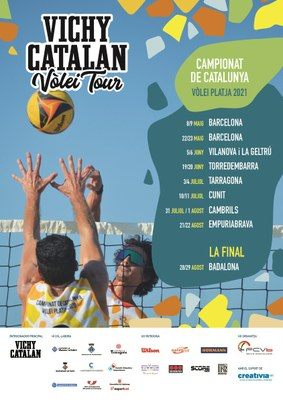 El Campionat de Catalunya de Vòlei Platja Vichy Catalan Vòlei Tour passarà aquest estiu per Tarragona