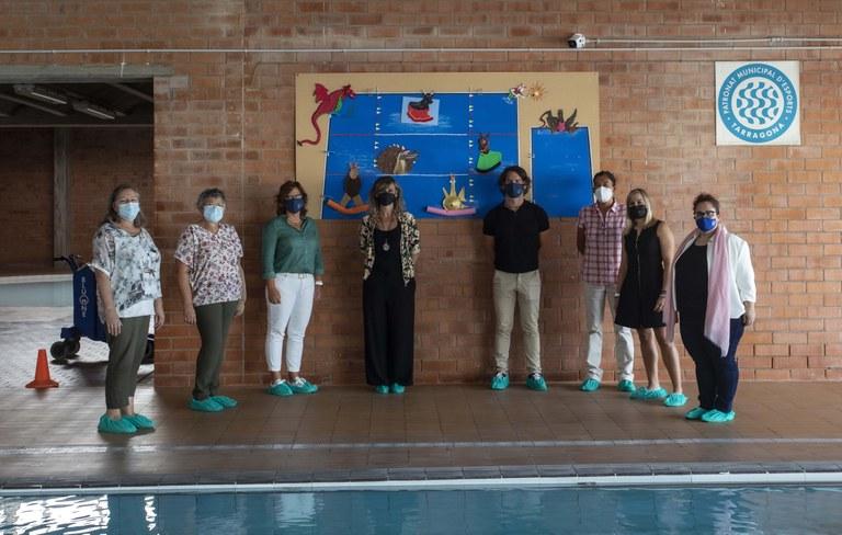El nou programa de natació infantil del PMET incorpora el Seguici Popular