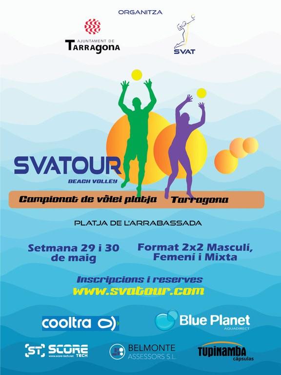 La platja de l'Arrabassada acollirà la segona prova del circuit de Vòlei Platja Svatour 2021