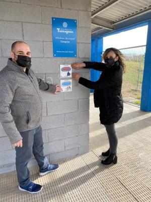 L'Ajuntament de Tarragona incorpora pictogrames a les instal·lacions esportives municipals per millorar la comunicació amb les persones amb Transtorn de l'Espectre Autista