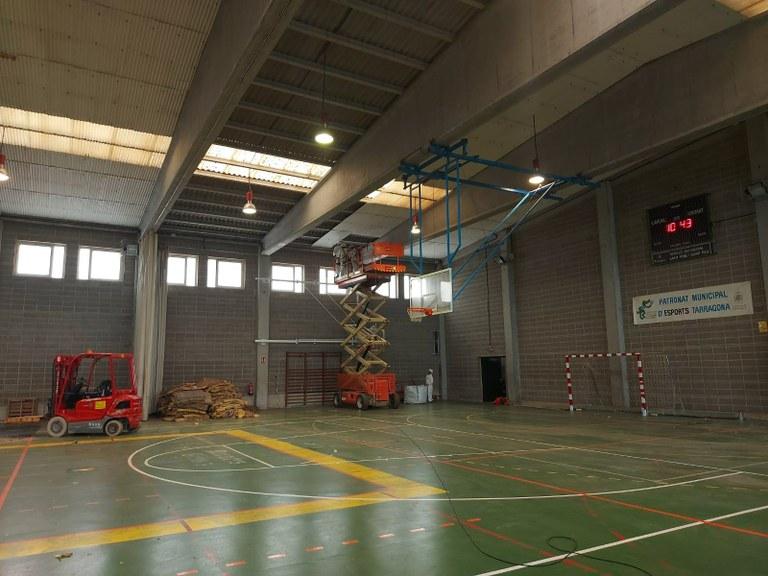 L'Ajuntament de Tarragona inicia les obres de reforma de la coberta del polisesportiu de Sant Pere i Sant Pau