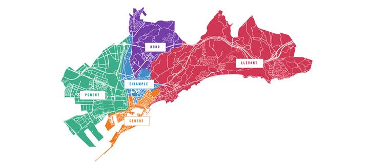 Mapa de districtes