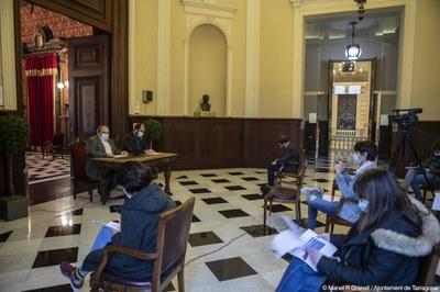 """""""El pressupost 2021 serà el de les inversions perquè és la principal eina d'activació econòmica per a Tarragona"""""""