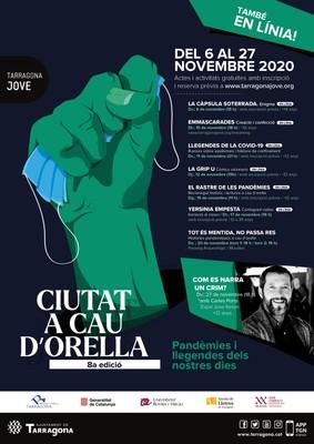 Cartell del cicle 'La Ciutat a Cau d'Orella' 2020