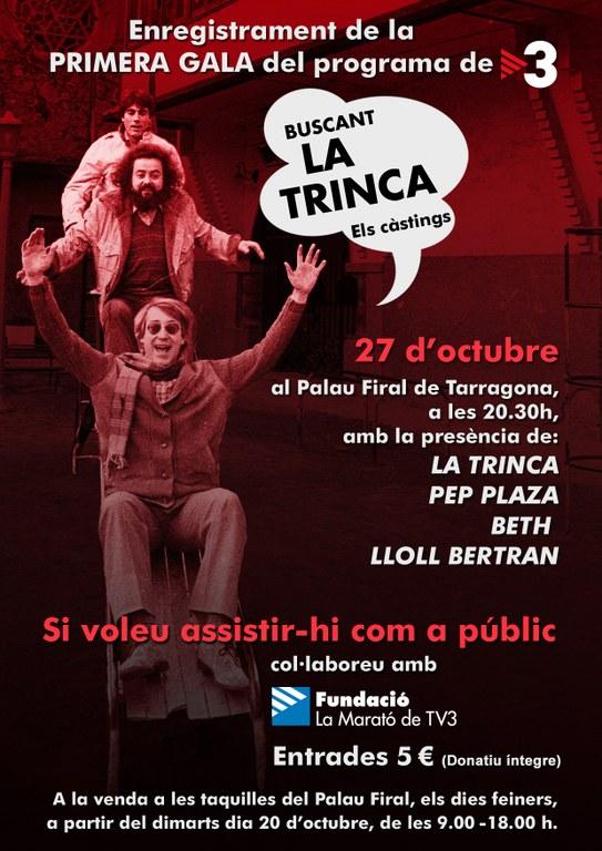 Els càstings del nou programa de TV3 'Buscant la Trinca' comencen a Tarragona