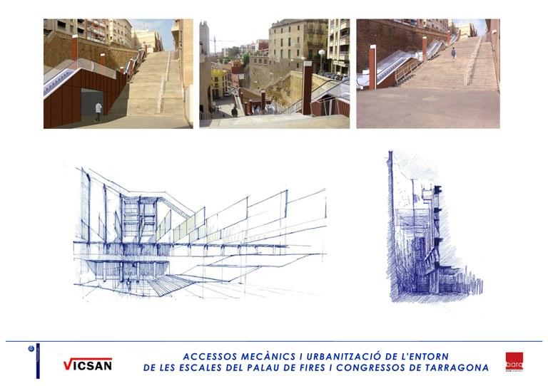 S'inicien les obres d'instal·lació de les escales mecàniques del Palau de Congressos