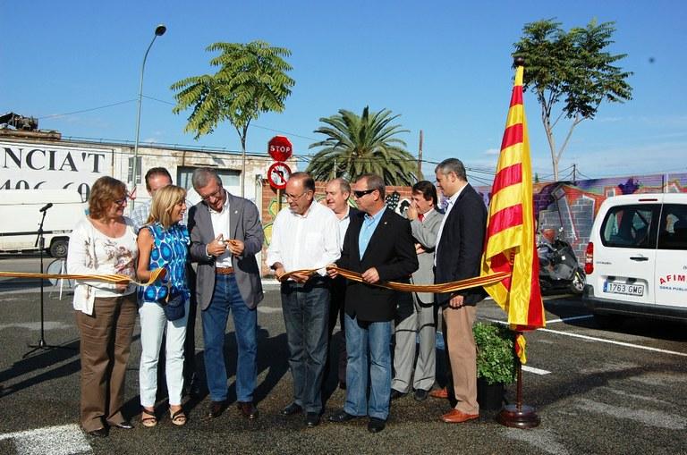 L'alcalde inaugura un nou pàrquing dissuasiu al costat de la Tabacalera