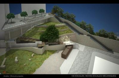 Les escales mecàniques del carrer Vapor milloraran la mobilitat i l'accessibilitat de la Part Baixa