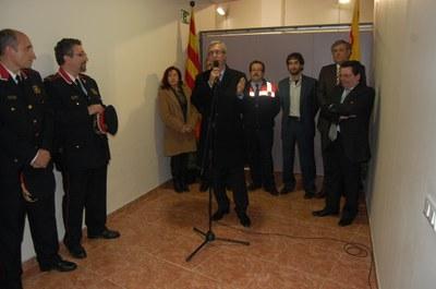 L'alcalde inaugura el nou local municipal dels voluntaris de Protecció Civil