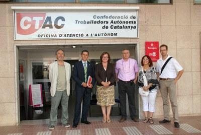 L'Ajuntament i la Confederació de Treballadors Autònoms de Catalunya signen un conveni de col·laboració