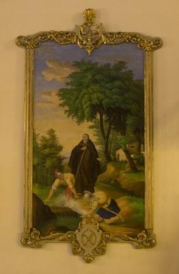 L'ermita de les Fonts de Sant Magí estrena un quadre de grans dimensions