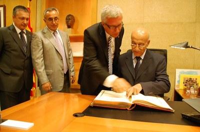 L'alcalde rep el president del Comitè Internacional dels Jocs Mediterranis