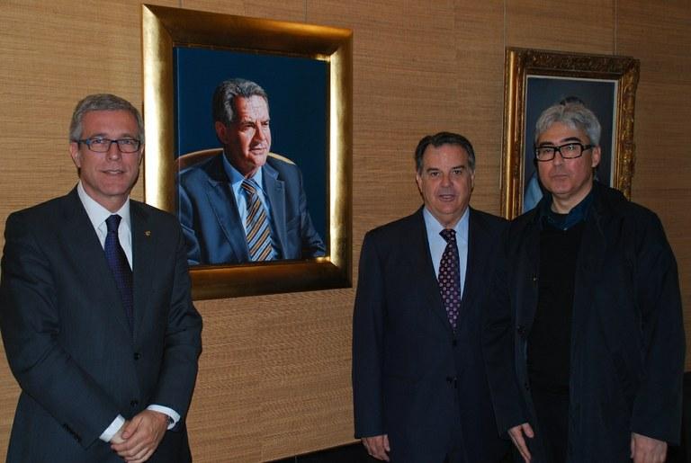 L'exalcalde Joan Miquel Nadal, a la galeria dels alcaldes de l'Ajuntament de Tarragona