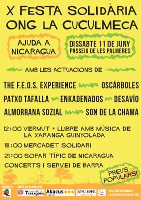 L'ONG La Cuculmeca de Tarragona celebra la seva desena festa solidària amb Nicaragua