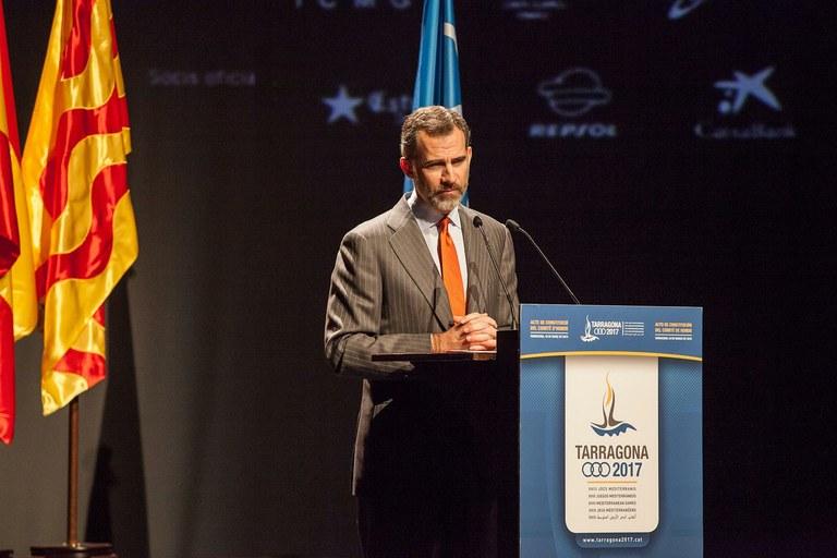El Rei Felip VI presidirà la presentació de la mascota dels Jocs Mediterranis Tarragona 2017