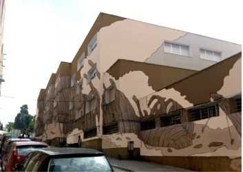 La façana de l'Institut Pons d'Icart lluirà un mural artístic en record de la Guerra del Francès