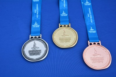 Les medalles dels Jocs Mediterranis representen una moneda romana i simbolitzen el retorn a Tarragona de les antigues competicions esportives