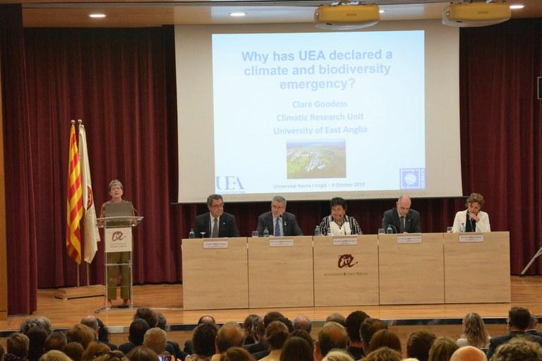 L'alcalde Ricomà assisteix a la inauguració del curs acadèmic de la Universitat Rovira i Virgili
