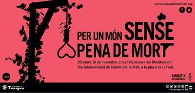 """L'Ajuntament s'afegeix als actes de """"Ciutats per la Vida"""""""