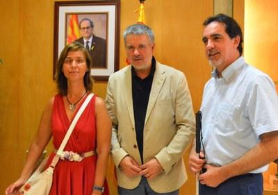 Visita institucional dels representants de  l'ONCE
