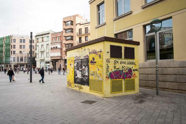 Aquest dimarts es comença a desmuntar la caseta del carrer Lleida amb Plaça Corsini