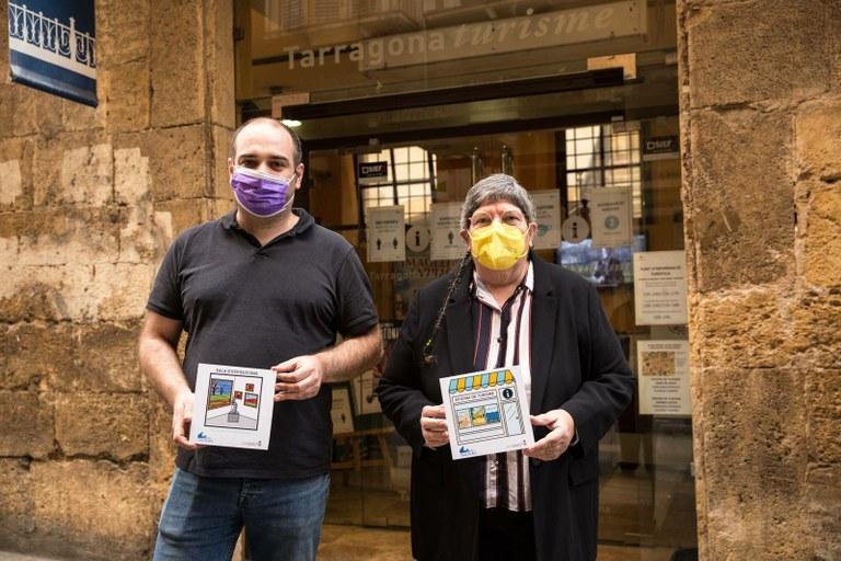 El Patronat Municipal de Turisme de Tarragona estrena dos pictogrames de Todos en Azul adaptats a persones amb trastorn de l'espectre autista