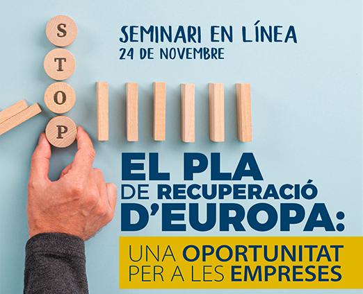 Europe Direct Tarragona organitza un seminari adreçat a empreses sobre els ajuts europeus de recuperació