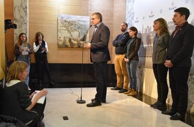 """L'alcalde de Tarragona titlla de """"desgavell ferroviari"""" el que patirà la ciutat amb la posada en marxa del nou tram del corredor mediterrani"""