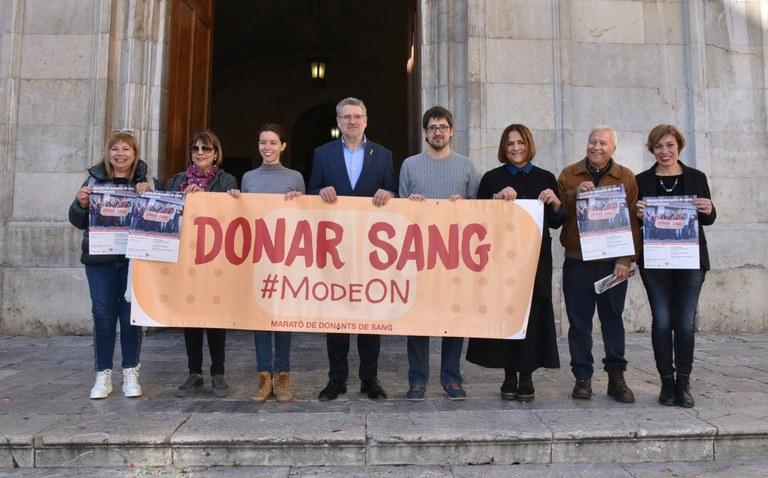L'alcalde presenta la Marató de Donants de Sang de Catalunya a Tarragona
