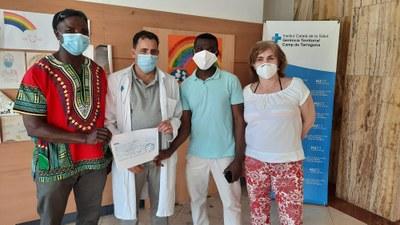 La comunitat ghanesa de Tarragona aporta 1.ooo euros a l'Hospital Joan XXIII per adquirir material sanitari per lluitar contra el coronavirus