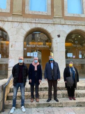 L'alcalde rep el director general de Turisme per donar-li a conèixer el projecte Porta Tàrraco