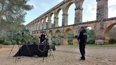 Tarragona acull la gravació de 'Tarragona és Techno' un projecte musical per a la promoció del patrimoni històric