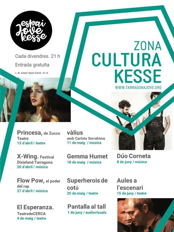 """Espectacles de teatre, música i audiovisuals a la programació de la zona """"Cultura Kesse"""""""