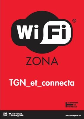 Cartell indicatiu zona Wi-Fi