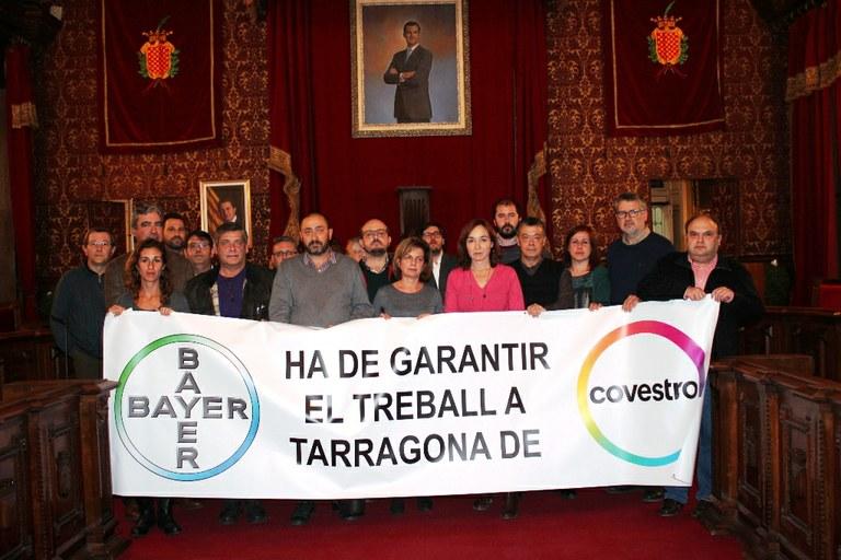 El consistori dóna suport unànim als treballadors de Covestro