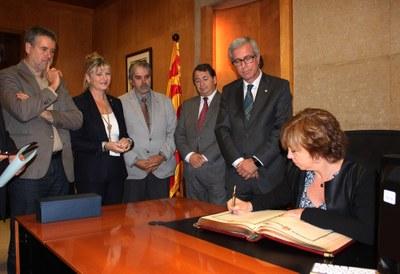 Visita protocol·lària de la Consellera de Governació i Relacions Institucionals, Meritxell Borràs
