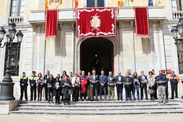 L'Ajuntament fa un minut de silenci per Brussel·les